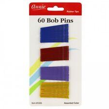 "ANNIE 60 PCS BOB PINS 2"" ASSORTED COLOR #3306 CRIMPED & BALL TIPPED"