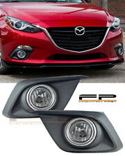 2014 2015 2016 Mazda 3 Clear Lens Fog Light + Wiring Switch Bezel Complete Kit