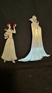 2 PANDORA Store Display Sign Metal 2D Disney Snow White & Evil Queen RARE
