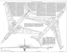 PLS-100105 1/100 Myasishchev M-4/3M Bison bomber Full Size Scale Plans (2xA1 p)