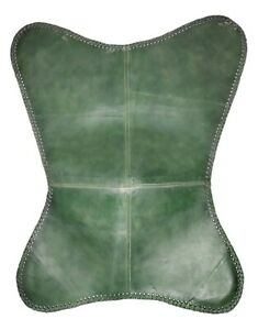 Genuine Green Leather Butterfly Chair Cover - Living Room Chair Cover S6-70