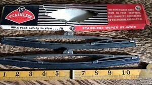 "FORD MG HERALD HUMBER STANDARD MORRIS JENSEN DAIMLER TEX HOOK WIPER BLADES 11"""