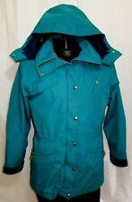 Vtg 90s NORTH FACE Gortex Teal Blue Green Jacket Ski Women Rain Coat Size L