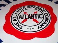 """VINTAGE ATLANTIC FRIED EGG GASOLINE & REFINING 11 3/4"""" PORCELAIN METAL OIL SIGN!"""
