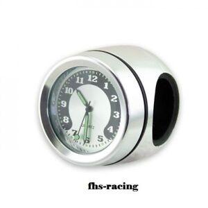 Motorraduhr , Lenker Quarz Uhr, Lenkeruhr 7/8 Zoll + 1 Zoll, chrom, wasserdicht