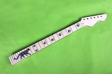 New electric guitar neck maple wood Binding Cat inlaid 22 fret 25.5 inch  #19