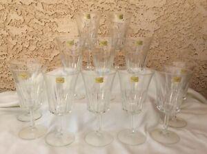 Luminarc Verrerie D'Arques France Set of 12 Decorative Wine/Water Goblets