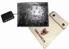 Tobin Marcus Rfid Blocking Peruvian Ostrich Leather Wallet Black Mens Gift New !