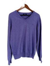 GANT col V violet coton homme Pull Taille:XL