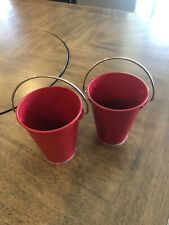 Pottery Barn Kids Red Metal Containers, Chalkboard Red.