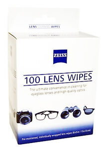ZEISS LENS 100 CLEANING WIPES DIGITAL CAMERA SMARTPHONE LCD LED EYEGLASS SCREEN