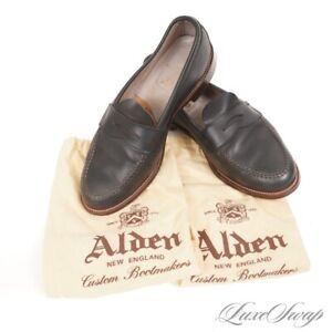 #1 MENSWEAR Alden Brick & Mortar 17835F Blue Chromexcel Van Last Loafers 10.5 EE