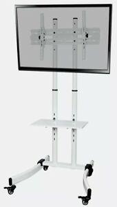 Proper AV Portable 32 to 65 Inch TV Trolley Stand - White