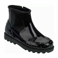 NEW Melissa Womens Fusion Rain Boot, Black, Size 10 Black MSRP $155 (S172)