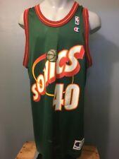 Vtg 90s Champion Shawn Kemp 40 Seattle Supersonics Baloncesto NBA Jersey Mens 48