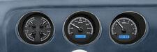 Dakota Digital 69 Pontiac GTO Le Mans Analog Gauges Black Blue VHX-69P-GTO-K-B