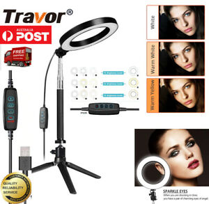 LED Ring Light USB Dimmable Lamp Phone Selfie Camera Studio Video Tripod Stand