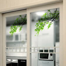Removable Green Leaf Branch Window Decal Wall Mural Glass Sticker Home DIY Decor