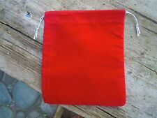 14 X 12.5 CM Red  Velvet pouch conjour bag mojo bag pagan witchcraft