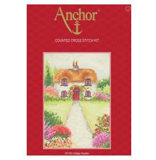 Anchor Cottage Garden Counted Cross Stitch Kit AK136 Size 23cm X 16cm Flowers