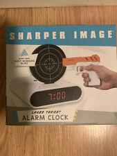 New Sharper Image Laser Target Alarm Clock NEW