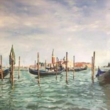 """William variaz originale """"una pausa dalla convenzione"""" Venezia Italia Gondola dipinto"""