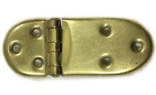 Vintage Rounded Brass Ice Box Hinge