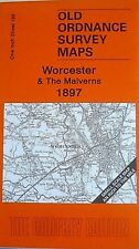OLD ORDNANCE SURVEY MAPS WORCESTER & THE MALVERNS 1897 GODFREY EDITION