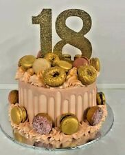 Custom Cake Topper 18th Glitter Any NUMBER  age birthday,18 anniversary