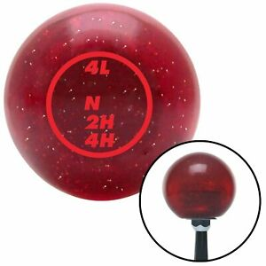 Red Dodge Transfer Case Red Metal Flake Shift Knob with 16mm x 1.5 Insert