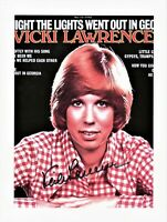 Vicki Lawrence Autographed 8 1/2 x 11 in. Photo