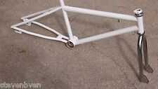 old school used MCS Magnum BMX bike frame fork 20 inch refinished Tioga headset