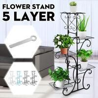5 Tier Plant Stand Holder Flower Display Shelf Rack Home Balcony Garden Patio