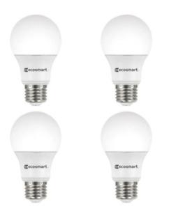 EcoSmart 40-Watt Equivalent A19 Dimmable LED Light Bulb Soft White, Pack of 4