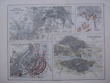 1918 MAP BERLIN POTSDAM STOCKHOLM COPENHAGEN PLAN CHRISTIANIA