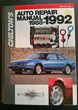 CHILTON'S AUTO REPAIR  MANUAL for 1988-1992   Manual#7906