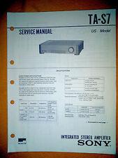 Sony TA-S7 Service Manual (original) Used