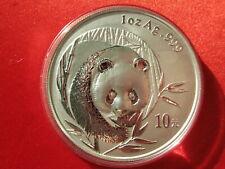 China 2003, WWF Panda 1oz 10 Yuan Silber (p048)