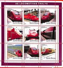 A0853 -  GUINEA-BISSAU - ERROR   MISSPERF SHEET - TRANSPORT Thalys Trains 2001