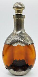 "Genuine Vtg Royal Holland Pewter Decanter K M D Glass Made In Holland 10"" Ex Cnd"