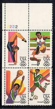 Sc# C-104a 28 Cent Summer Olympics, 1984 (1983) MNH PB/4 P# 2222 UL SCV $5.25