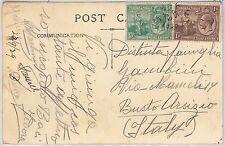 TRINIDAD & TOBAGO   -  POSTAL HISTORY - POSTCARD to ITALY 1929