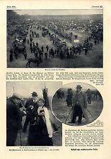 Der Pferdemarkt zu Charlottenburg Berlin Peitschenhändlerin Hänlder Peter...1907