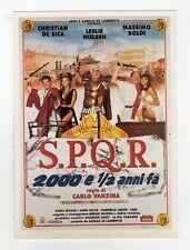 cartolina scheda Ciak S.P.Q.R. 2000 E 1/2 ANNI FA DE SICA, NIELSEN, BOLDI
