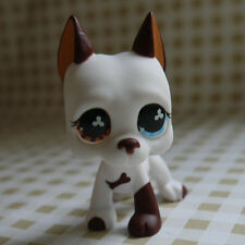 White Great Dane Pubby dog LPS mini Action Figures #577