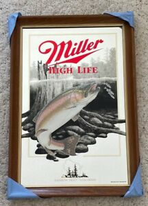 Miller High Life Rainbow Trout Mirror - Wildlife Series -  Never Hung