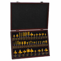 Pro-Series RBSET40 40 Piece Router Bit Woodworking Set in Wood Storage Box