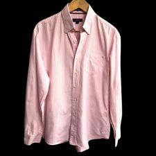 Immaculate GANT USA Shirt Candy Stripe Pink White Size L Large Gramercy Oxford