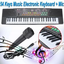 54 Keys Music Electronic Keyboard Kid Electric Piano Organ W/Mic & Adapter 2018