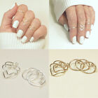 Fashion 5Pcs/Set Gold Silver Above Knuckle Finger Ring Band Women Midi Rings